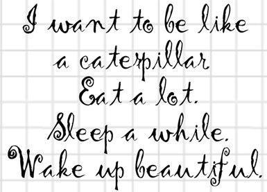 Be a Caterpillar