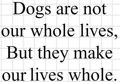Dogs are our Whole Lives