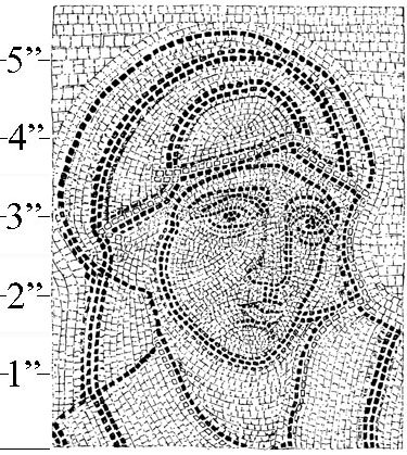 Mosaic Woman Background